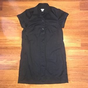 Black J. Crew Shirtdress